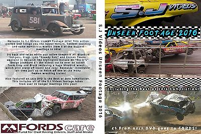 S.J Videos Unseen Footage 2016 Banger Racing DVD *New Condition*