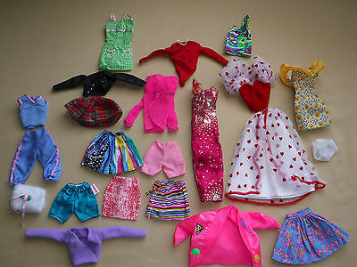 Vintage Barbie Doll 22 Piece Lot Clothing