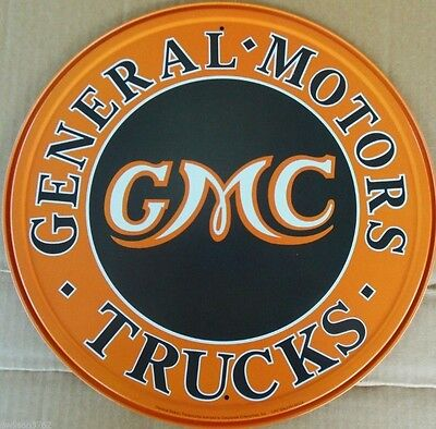 General Motors Gmc Chevy Logo Truck Car Mechanic Garage Shop Parts Metal Ad Sign