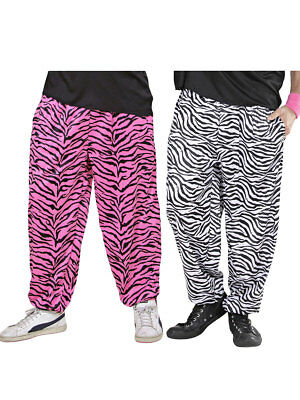 80er Jahre Hose Zebra Bad Taste Party