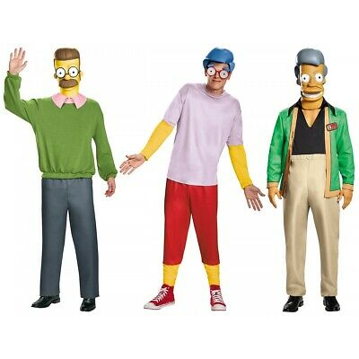 Deluxe Simpsons Costume The Simpsons Halloween Fancy Dress  sc 1 st  PicClick : apu simpsons costume  - Germanpascual.Com