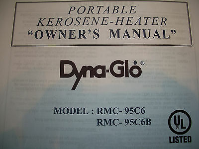 DYNA GLO RMC 95 C6 Owners Parts Manual