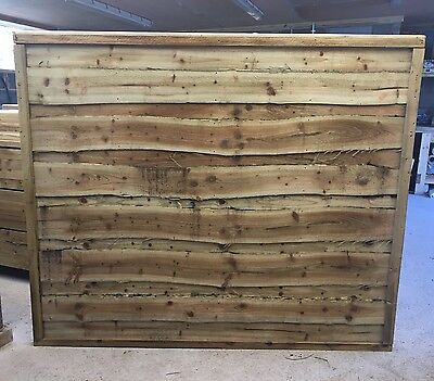 Heavy duty Wayneylap Tanalised Wooden Garden Fence Panels 6X5 ��