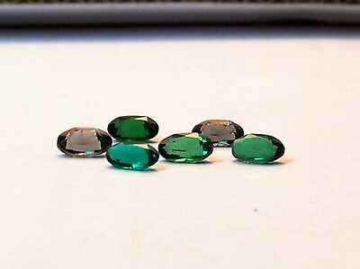 lab created   emeralds 3x5 oval carat 1.50 clean beautiful synthetic gemstons