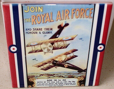 World WAR I 1 - Join the Royal Air Force RAF- Sopwith Camel- CERAMIC WALL TILE