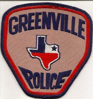 Usa- Texas Greenville Police Patch 11,2X11,8 Cm