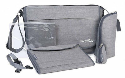 Brand new Babymoov messenger changing bag in smokey grey with changing mat