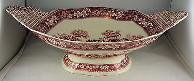 Spode China Pink Tower Large Centerpiece Bowl - Late Mark