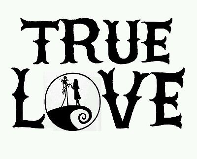 Jack & Sally , Nightmare Before Christmas , Love , In home Wall art , decal