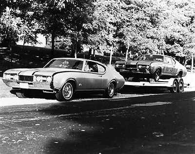 1968 Oldsmobile 442 Towing Chesrown Drag Race Car Photograph ca6211
