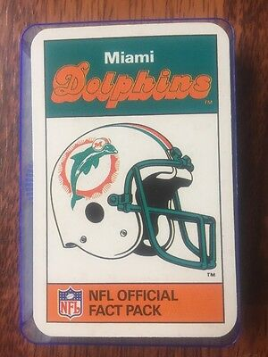 Ace NFL Official FACT Pack Miami Dolphins 1986 Set Includes Dan Merino RARE