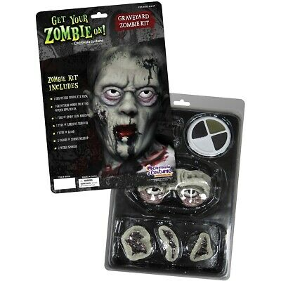 Graveyard Zombie Kit Scars Wounds Sores Appliances Halloween Costume Makeup