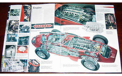 Maserati 250F Fold-out Poster + Cutaway drawing