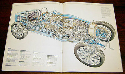Ford GT40 - technical cutaway drawing / 12 Bugatti Type 35  - technical cutaway