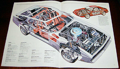 Ford Mustang - technical cutaway drawing