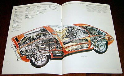 Maserati Bora & Merak - technical cutaway drawing