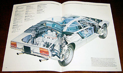 Lamborghini Urraco - technical cutaway drawing