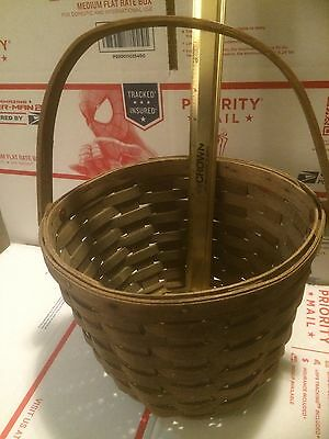 Longaberger 1979 Large Round Apple Basket Very Rare Dresden Ohio Collector Weave