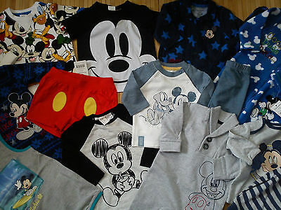 ***AMAZING***14x NEW BUNDLE OUTFITS MICKEY MOUSE BABY BOY 0/3/6 MTHS(1)