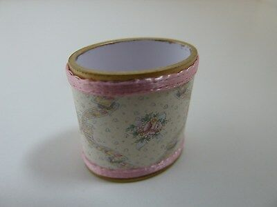 Dolls House Miniature 1:12 Scale Handcrafted Lounge Bedroom Pink Floral Bin