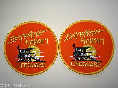 Patch  x 2 * BAYWATCH HAWAII * Lifeguard life guard badge - Error - 2 for 1!!