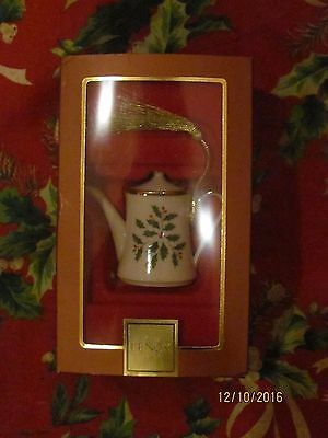 Lenox Holiday Coffee Pot Ornament NEW IN BOX