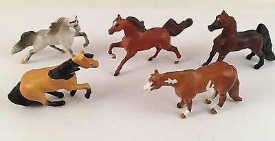 Vintage Lot Of 5 Collectible Breyer Miniature Horses Toys