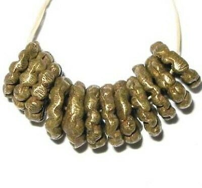 Old Ivory Cost African lost wax brass spacer trade beads