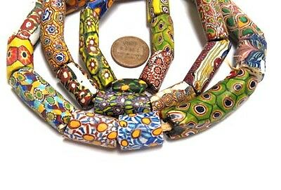 A strand of old Venetian Antique Mixed Millefiori African Glass Trade beads