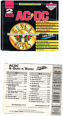 Ac/dc & Guns N Roses Live & Alive In The Usa 2 Cd Rare