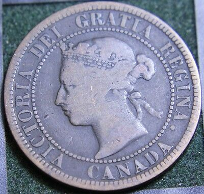 #527# 1882H Canadian Coins Large Cent Queen Victoria