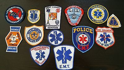 EMT EMS Police Security Public Safety Obsolete Patches lot of 13 Mix
