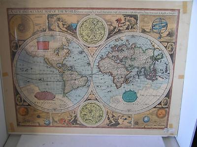 1627 ACCVRAT MAP OF THE WORLD By JOHN SPEED RAND MCNALLY LIBRARY CONGRESS PRINT