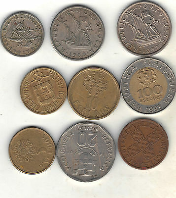Portugal Lot Of 9 Coins