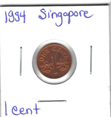 Singapore 1994 1 Cent Coin