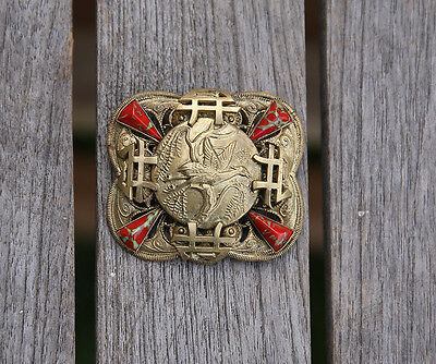 Antique Czech, Neiger Chinese Style Dragon Brooch