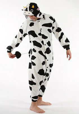 Cow Kigurumi Onesie Pajama Costume One Size Fits Most Adults NEW