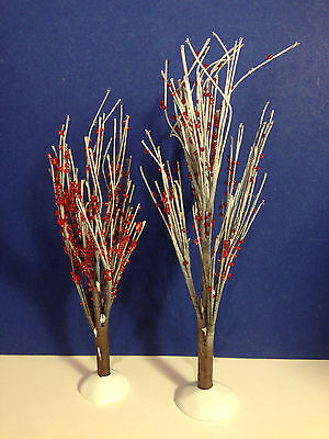 Dept 56 Heritage Village WINTER BERRY TREES Set of 2 w/ box Combine Shipping!