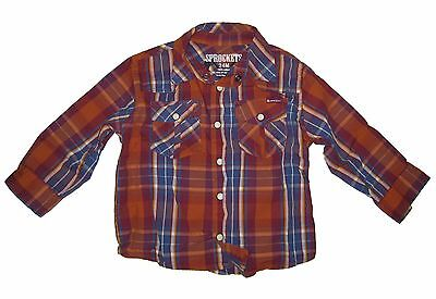 Sprockets Top Boy Long Sleeve Western Shirt Toddler Infant 12 18m 24 2t 3t 4t