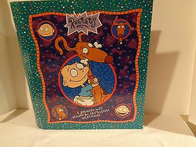 Rugrats 3 Ring Binder Tommy & Spike  1999