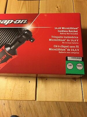 "New Snap On 14.4V Green 3/8"" Drive Cordless Ratchet Body Only"