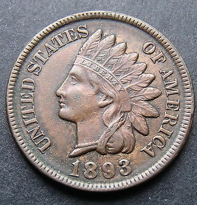1893 Indian Head Penny in 2 x 2 Holder - High Grade - 188