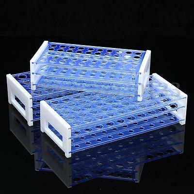 Plastic 3 Layers Lab Test Tube Rack Holder Centrifugal Pipe Stand 40/50 Holes US