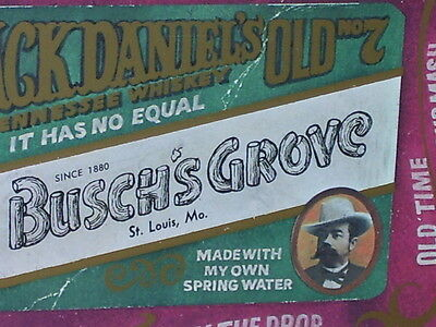 JACK DANIEL'S WHISKEY --- Relax at BUSCH'S GROVE - St. Louis, Mo. --- METAL SIGN