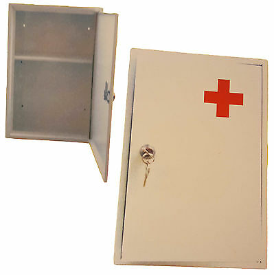 Lockable Wall Mounted Stainless Steel First Aid Medical Medicine Storage Cabinet