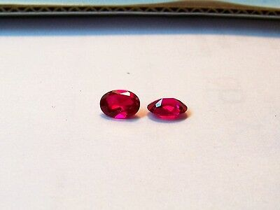 lab created beautiful stunning clean red ruby 5x7 oval carat 1.90 gemstones