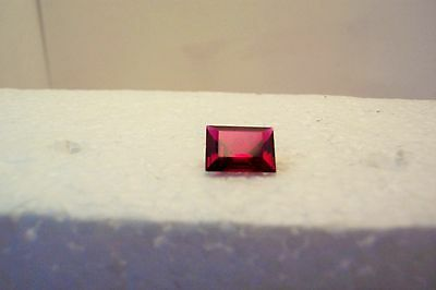 lab created beautiful  stuning vvs clean ruby 8x6 rectangul carat 2.30 gemstone