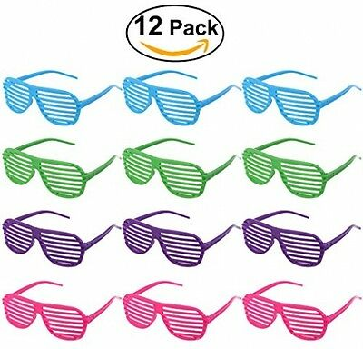 Tinksky 12 Pairs Shutter Shades Glasses Sunglasses Party Photo Props Plastic