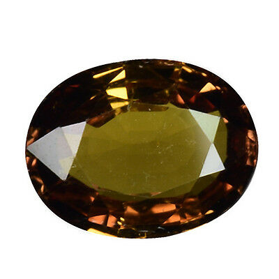 1.390Cts Glorious Luster Color Change Yellow Natural Chrysoberyl Oval Gemstones