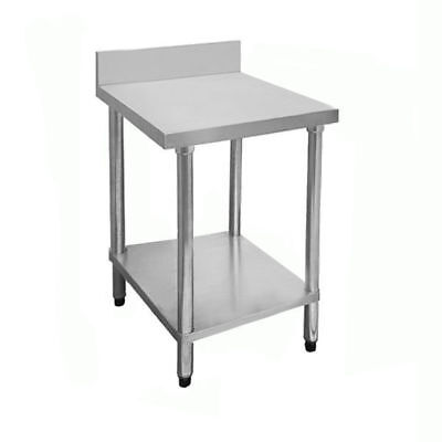 Prep Bench with Undershelf & Splashback, Stainless Steel, 450x700x900mm, Kitchen